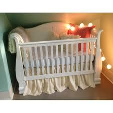 adorable cream ivory off white gathered cotton ruffled crib
