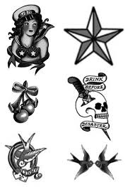 grey ink sailor tattoo design