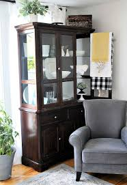 how to arrange a corner china cabinet how to organize a china cabinet in the living room idea