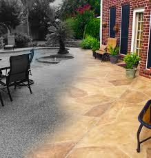 How To Resurface Concrete Patio Carvestone Concrete Pavers Outdoor Living Flood Restoration