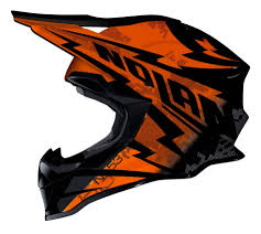 black motocross helmet nolan mx 53 motocross mx helmet comp orange black