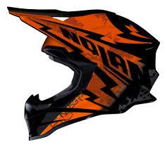 rockstar motocross helmet nolan mx 53 motocross mx helmet comp orange black