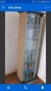 dvd cabinets with glass doors storage media cd dvd cabinet unit adjustable shelves glass door