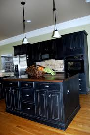 distressed painted kitchen cabinets how to paint cabinets black look distressed www redglobalmx
