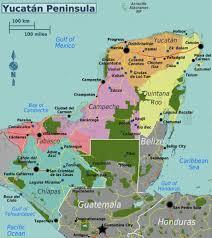map of mexico yucatan region yucatán peninsula travel guide at wikivoyage