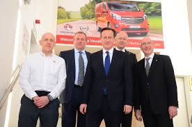 vauxhall luton british prime minister david cameron visits the opel vauxhall