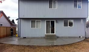 lacey sidewalk and wraparound concrete patio ajb landscaping u0026 fence