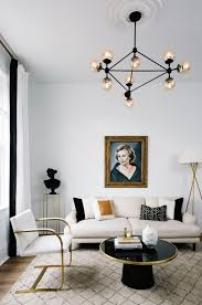 Black White And Gold Living Room by Home Makeover An Interior Designer U0027s Glam Black U0026 White Denver Home