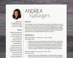 Resume Template Word Mac Professional Resume Template With Photo Modern Cv Word