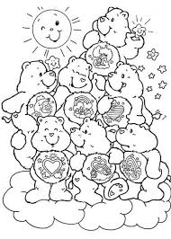coloring pages delightful care bear printables bears coloring