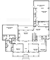 4 Bedroom Single Story Floor Plans 4 Bedroom Floor Plans 1 Storycountry Floor House Plans Bedroom