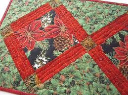 christmas table runner with poinsettias u2013 patchwork mountain