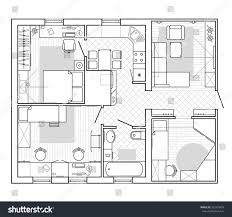 black white architectural plan house layout stock vector 592429499 black and white architectural plan of a house layout in top view of the apartment