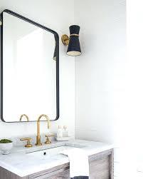 Rectangular Bathroom Mirrors White Framed Rectangular Bathroom Mirror Best Black Mirrors Ideas