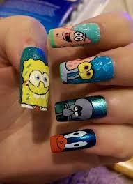 spongebob squarepants nail art by amybartram94 on deviantart