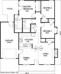 3 bd 2 bath 1 car garage 1050 sq ft house pinterest
