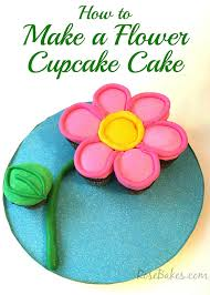 how to make a flower cupcake cake rose bakes