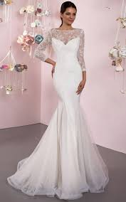 lace 3 4 sleeve wedding dress cheap 3 4 sleeve lace wedding dress in style june bridals