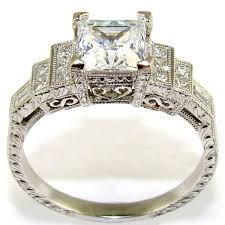 crown diamond rings images Princess cut diamond crown engagement ring the jewelers guild jpg