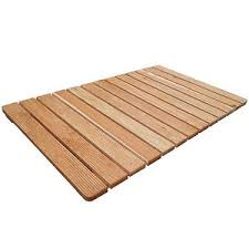 pedana legno pedana antiscivolo 105 x 62 cm per piatto doccia rettangolare con