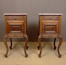 marble top bedside table pair french marble top bedside cabinets antiques atlas
