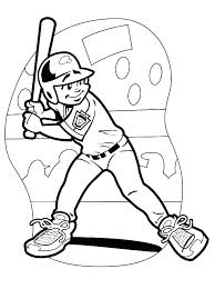 improve children skill baseball coloring pages