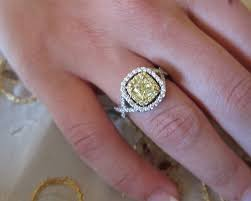 fancy yellow diamond engagement rings fancy yellow diamond set on 18k engagement ring diamond
