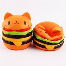 mini cuisine jouet d une seule pièce pu hamburger visqueux alimentaire mini