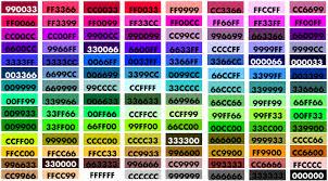 color codes cgb color codes