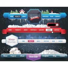 website menu design vector 6 beautiful black website navigation menu design set free