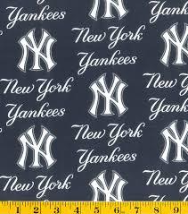 New York Yankees Home Decor New York Yankees Mlb Allover Cotton Fabric Joann