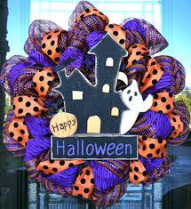 halloween door garland deco mesh wreaths