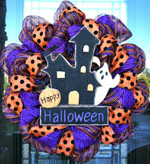 Halloween Wreaths Using Deco Mesh by Deco Mesh Wreaths