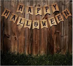 banner halloween happy halloween u0027 burlap banner the rustic chic boutique