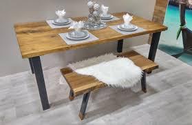tables de cuisine table de cuisine rustika en bois métal table à dîner rustique chic