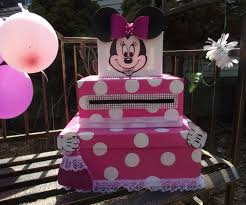 minnie mouse card table minnie mouse card box pink with white dots a great decoration for