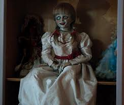annabelle costume courteney cox masters creepy annabelle doll costume photo