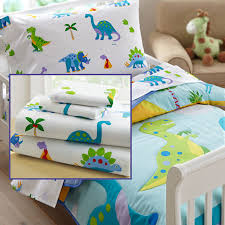 Dinosaur Comforter Full Dinosaurland Blue Green Dinosaur Toddler Bedding 4pc Bed In A Bag