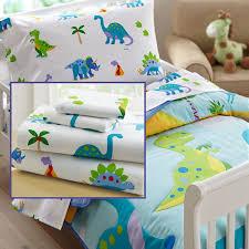 Dinosaur Comforter Full Dinosaurland Blue Green Dinosaur Toddler Bedding 4pc Bed In A Bag
