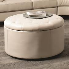 leather coffee tables ottomans coffee table design ideas