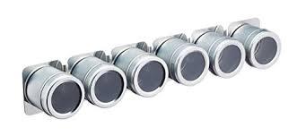 portaspezie magnetico kitchen craft mcsrss6pc set de 6 pots à epices acier inoxydable