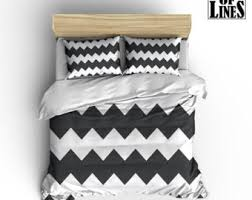 Grey Chevron Duvet Cover Chevron Duvet Cover Etsy