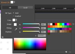 use color and background fill in adobe muse