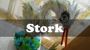 how to make a stork for baby shower youtube