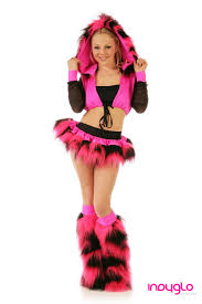 neon pink and black fuzzy fur rave 69 99 only from