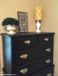 Black Furniture Paint by Green With Decor U2013 A Dresser Makeover With Spray Paint