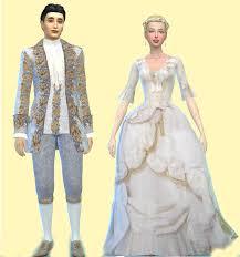 wedding clothes oh so rococo sims 4 rococo wedding clothes woman s
