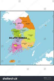 Map Of World Korea by Administrative Map South Korea Stock Illustration 149290640