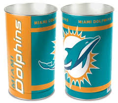 Dolphin Home Decor Amazon Com Miami Dolphins Wastebasket Sports U0026 Outdoors