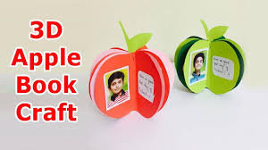 3d apple notebook tutorial for kids 3d apple book craft with